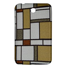 Fabric Textures Fabric Texture Vintage Blocks Rectangle Pattern Samsung Galaxy Tab 3 (7 ) P3200 Hardshell Case