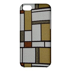 Fabric Textures Fabric Texture Vintage Blocks Rectangle Pattern Apple Iphone 5c Hardshell Case by Simbadda