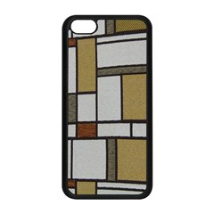Fabric Textures Fabric Texture Vintage Blocks Rectangle Pattern Apple Iphone 5c Seamless Case (black)