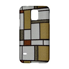 Fabric Textures Fabric Texture Vintage Blocks Rectangle Pattern Samsung Galaxy S5 Hardshell Case