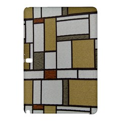 Fabric Textures Fabric Texture Vintage Blocks Rectangle Pattern Samsung Galaxy Tab Pro 12 2 Hardshell Case