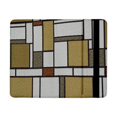 Fabric Textures Fabric Texture Vintage Blocks Rectangle Pattern Samsung Galaxy Tab Pro 8 4  Flip Case