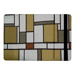 Fabric Textures Fabric Texture Vintage Blocks Rectangle Pattern Samsung Galaxy Tab Pro 10 1  Flip Case