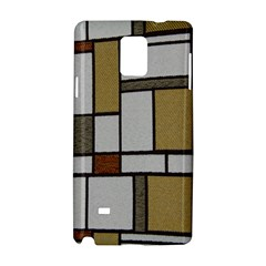 Fabric Textures Fabric Texture Vintage Blocks Rectangle Pattern Samsung Galaxy Note 4 Hardshell Case