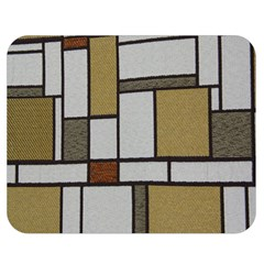 Fabric Textures Fabric Texture Vintage Blocks Rectangle Pattern Double Sided Flano Blanket (medium)