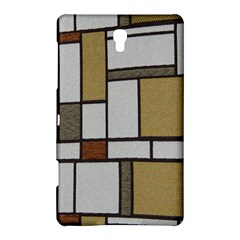 Fabric Textures Fabric Texture Vintage Blocks Rectangle Pattern Samsung Galaxy Tab S (8 4 ) Hardshell Case