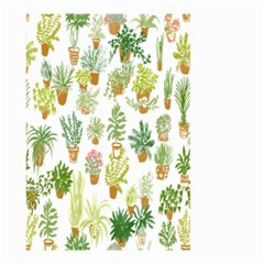 Flowers Pattern Small Garden Flag (two Sides) by Simbadda
