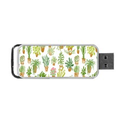 Flowers Pattern Portable Usb Flash (two Sides) by Simbadda