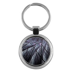 Fractal Art Picture Definition  Fractured Fractal Texture Key Chains (round)  by Simbadda