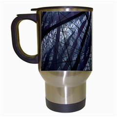 Fractal Art Picture Definition  Fractured Fractal Texture Travel Mugs (white) by Simbadda
