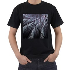 Fractal Art Picture Definition  Fractured Fractal Texture Men s T Shirt (black) by Simbadda