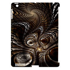Fractal Art Texture Neuron Chaos Fracture Broken Synapse Apple Ipad 3/4 Hardshell Case (compatible With Smart Cover)