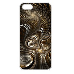 Fractal Art Texture Neuron Chaos Fracture Broken Synapse Apple Iphone 5 Seamless Case (white)