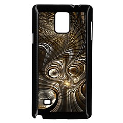 Fractal Art Texture Neuron Chaos Fracture Broken Synapse Samsung Galaxy Note 4 Case (black) by Simbadda