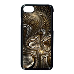 Fractal Art Texture Neuron Chaos Fracture Broken Synapse Apple Iphone 7 Seamless Case (black)