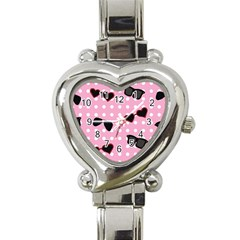 Pisunglass Tech Pink Pattern Heart Italian Charm Watch by Simbadda