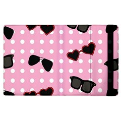Pisunglass Tech Pink Pattern Apple Ipad 2 Flip Case by Simbadda