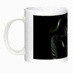 Fractal Disk Texture Black White Spiral Circle Abstract Tech Technologic Night Luminous Mugs by Simbadda