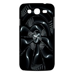 Fractal Disk Texture Black White Spiral Circle Abstract Tech Technologic Samsung Galaxy Mega 5 8 I9152 Hardshell Case