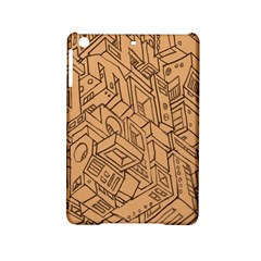 Mechanical Tech Pattern Ipad Mini 2 Hardshell Cases by Simbadda