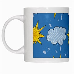 Sunshine Tech Blue White Mugs