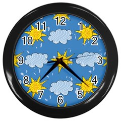 Sunshine Tech Blue Wall Clocks (black)