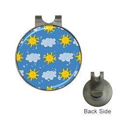 Sunshine Tech Blue Hat Clips With Golf Markers