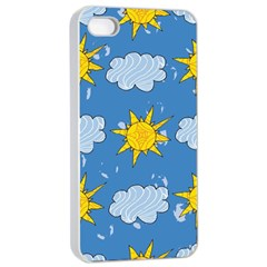 Sunshine Tech Blue Apple Iphone 4/4s Seamless Case (white)