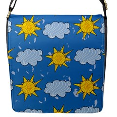 Sunshine Tech Blue Flap Messenger Bag (s) by Simbadda