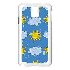 Sunshine Tech Blue Samsung Galaxy Note 3 N9005 Case (white) by Simbadda