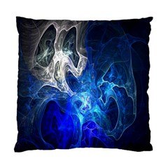 Ghost Fractal Texture Skull Ghostly White Blue Light Abstract Standard Cushion Case (two Sides)