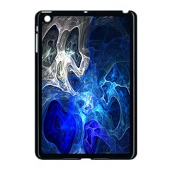 Ghost Fractal Texture Skull Ghostly White Blue Light Abstract Apple Ipad Mini Case (black) by Simbadda