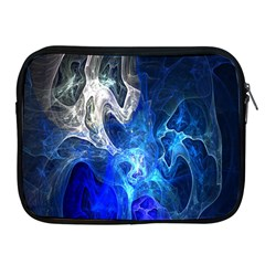 Ghost Fractal Texture Skull Ghostly White Blue Light Abstract Apple Ipad 2/3/4 Zipper Cases