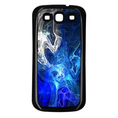 Ghost Fractal Texture Skull Ghostly White Blue Light Abstract Samsung Galaxy S3 Back Case (black)