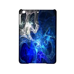 Ghost Fractal Texture Skull Ghostly White Blue Light Abstract Ipad Mini 2 Hardshell Cases