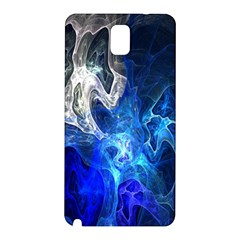 Ghost Fractal Texture Skull Ghostly White Blue Light Abstract Samsung Galaxy Note 3 N9005 Hardshell Back Case by Simbadda