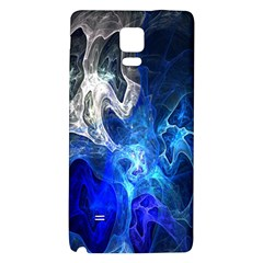 Ghost Fractal Texture Skull Ghostly White Blue Light Abstract Galaxy Note 4 Back Case by Simbadda