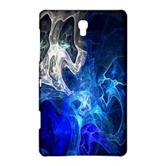Ghost Fractal Texture Skull Ghostly White Blue Light Abstract Samsung Galaxy Tab S (8 4 ) Hardshell Case  by Simbadda