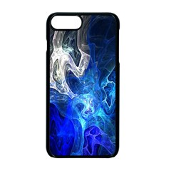 Ghost Fractal Texture Skull Ghostly White Blue Light Abstract Apple Iphone 7 Plus Seamless Case (black)