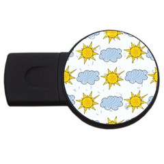 Sunshine Tech White Usb Flash Drive Round (2 Gb) by Simbadda