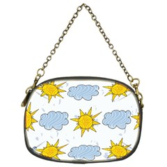 Sunshine Tech White Chain Purses (one Side)