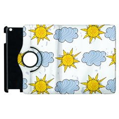 Sunshine Tech White Apple Ipad 2 Flip 360 Case by Simbadda