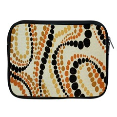 Polka Dot Texture Fabric 70s Orange Swirl Cloth Pattern Apple Ipad 2/3/4 Zipper Cases by Simbadda