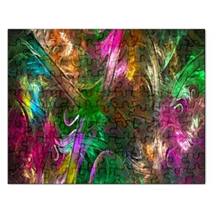 Fractal Texture Abstract Messy Light Color Swirl Bright Rectangular Jigsaw Puzzl by Simbadda