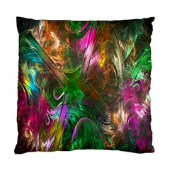 Fractal Texture Abstract Messy Light Color Swirl Bright Standard Cushion Case (one Side)