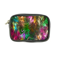 Fractal Texture Abstract Messy Light Color Swirl Bright Coin Purse by Simbadda
