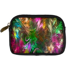 Fractal Texture Abstract Messy Light Color Swirl Bright Digital Camera Cases by Simbadda