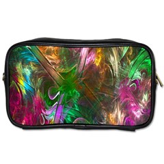 Fractal Texture Abstract Messy Light Color Swirl Bright Toiletries Bags 2 Side by Simbadda