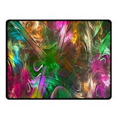 Fractal Texture Abstract Messy Light Color Swirl Bright Fleece Blanket (small) by Simbadda
