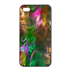 Fractal Texture Abstract Messy Light Color Swirl Bright Apple Iphone 4/4s Seamless Case (black) by Simbadda